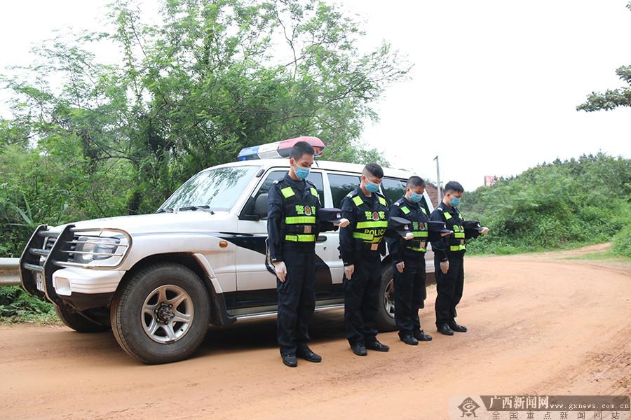 防城港那漏边境检查站举行哀悼活动(图)
