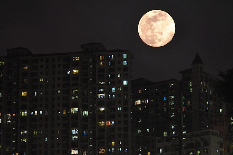 视直径全年最大!你看到这个超级月亮了吗?(图)