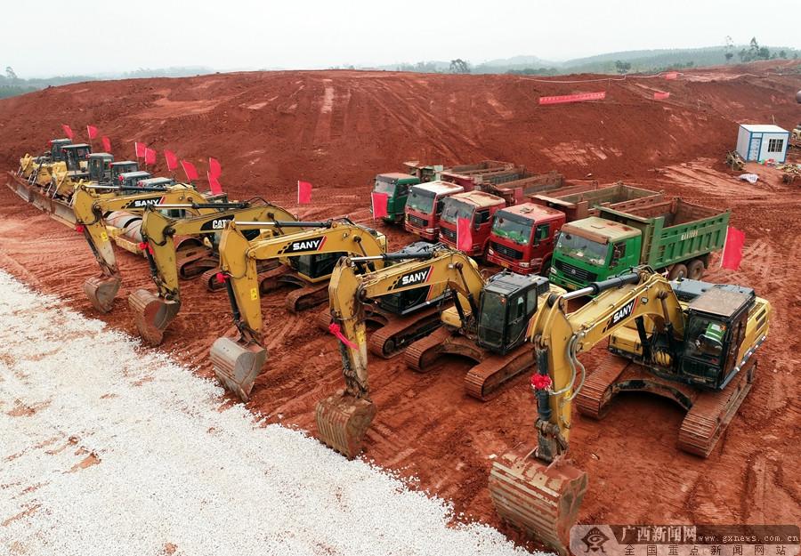 横县:重点建设项目建设如火如荼