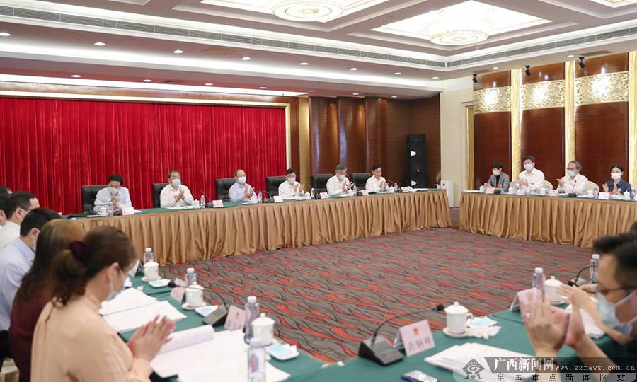 广西代表团审议各项决议草案 鹿心社等参加审议