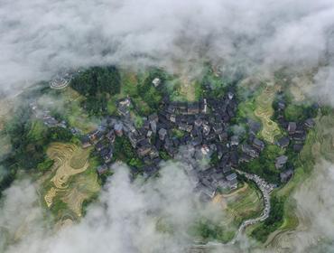 广西龙胜:夏日龙脊景色迷人