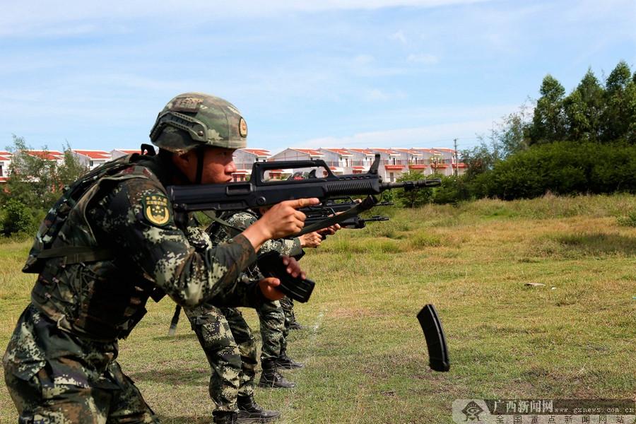 武警崇左支队:实弹射击锤炼实战能力