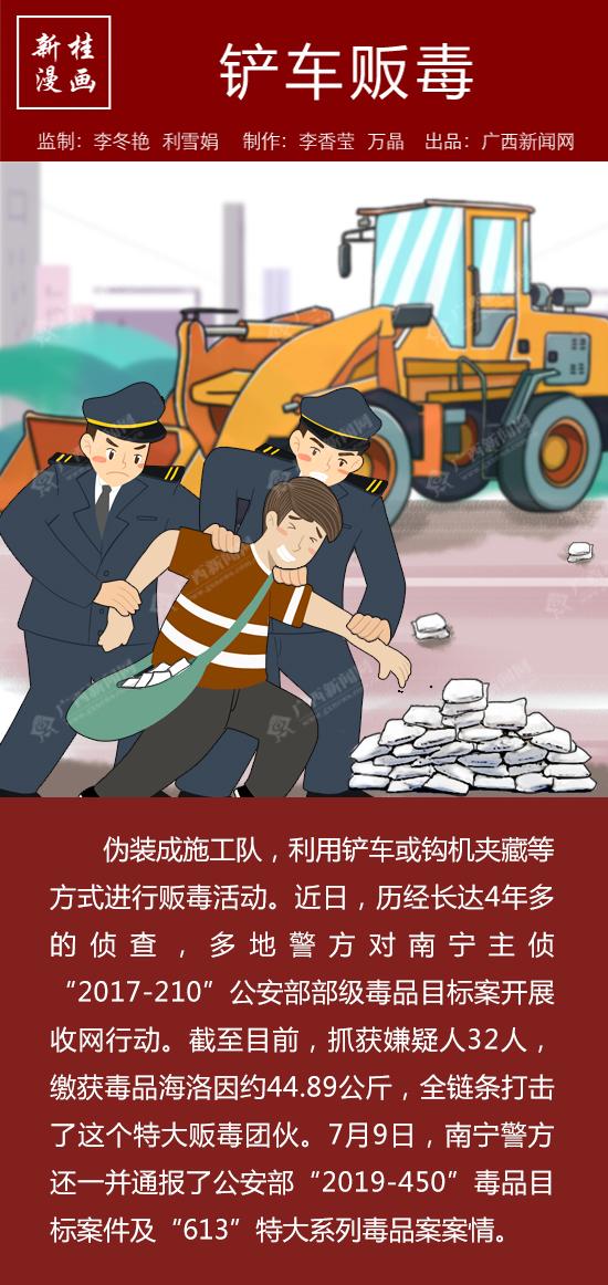 【新桂漫画】铲车贩毒