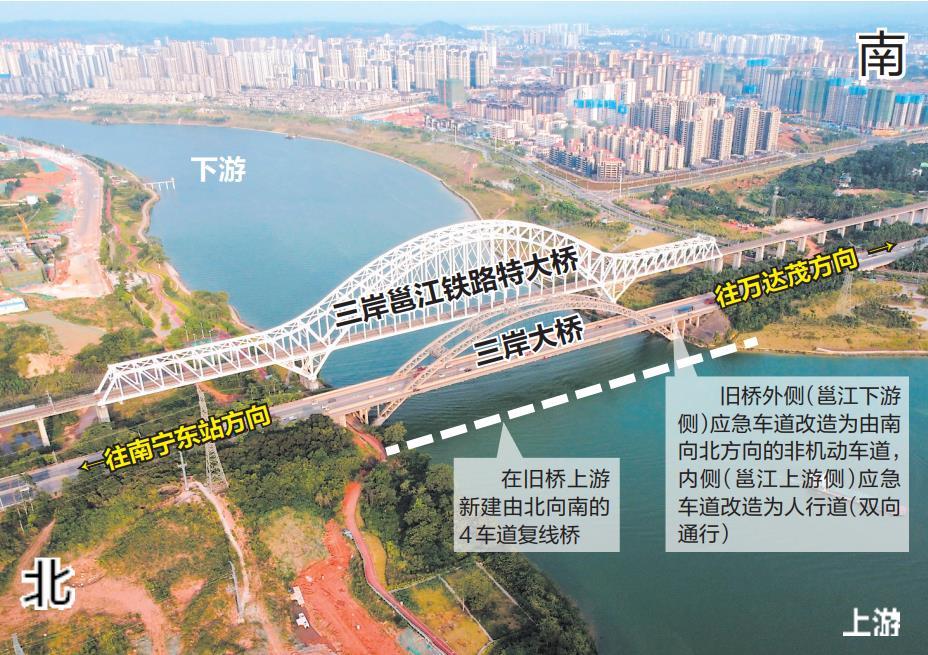 8月1日焦点图:南宁三岸大桥将改造成8车道!