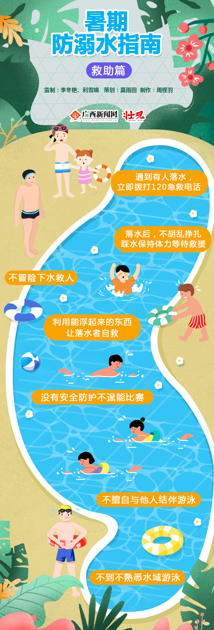 【图解】暑期游泳 防溺水指南——救助篇