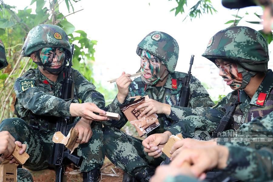 南寧武警:讓每一份野戰食品的能量都流向戰斗力