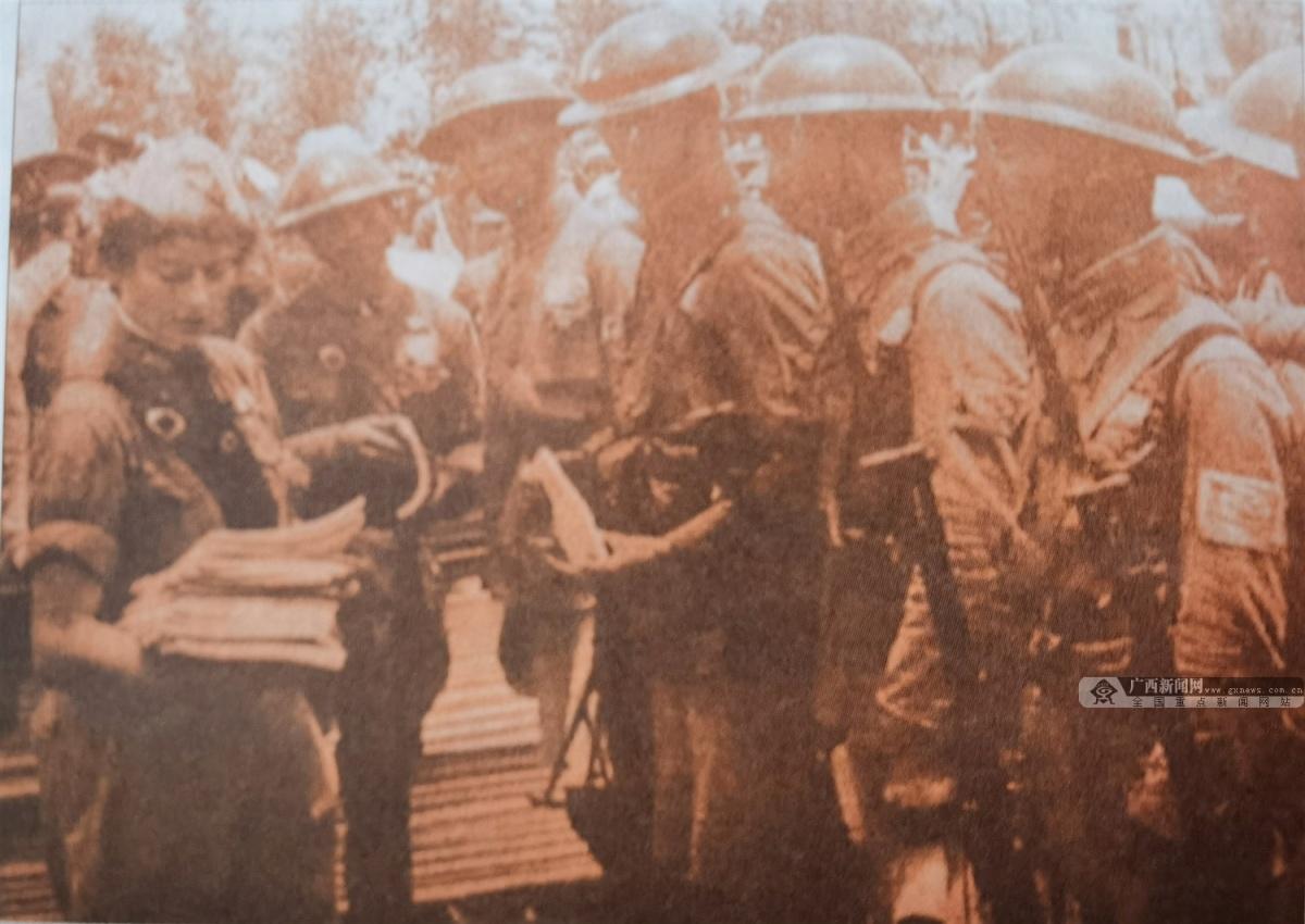 图为武汉会战期间的桂军。(广西壮族自治区档案馆供图)