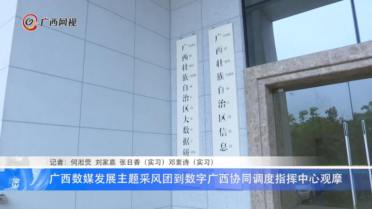 广西数媒发展主题采风团到数字广西协同调度指挥中心观摩
