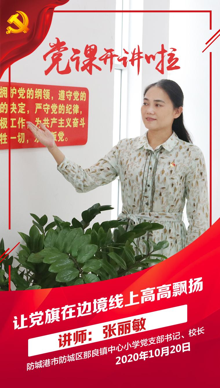 张丽敏——《让党旗在边境线上高高飘扬》