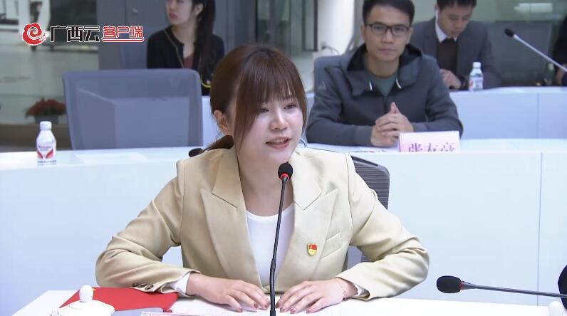 广西广播电视台记者在启动仪式上发言