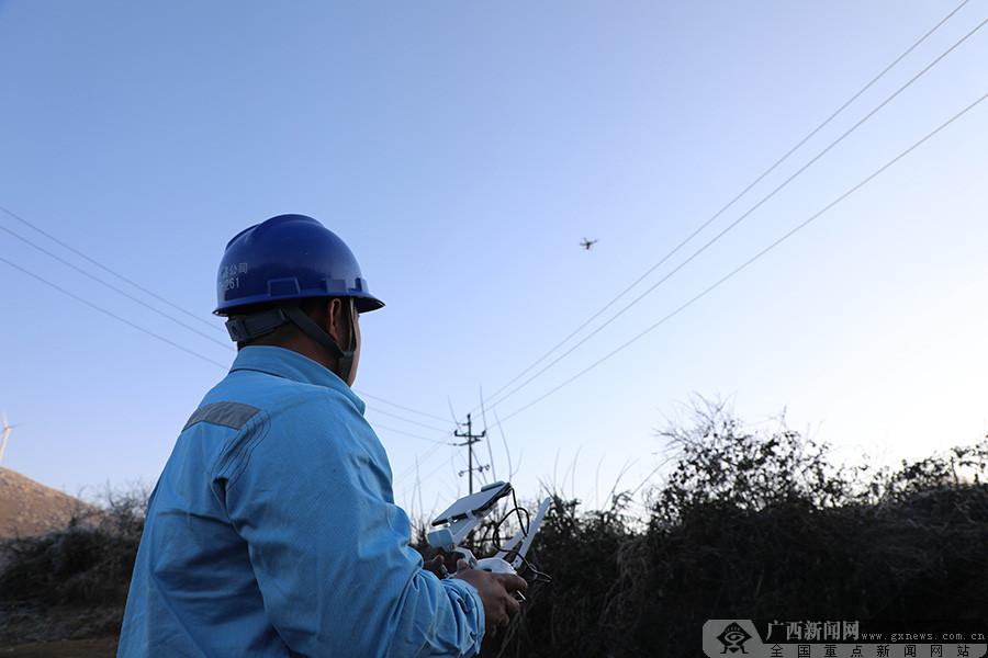 广西全州:配置无人机节前巡查线路 保障居民春节用电
