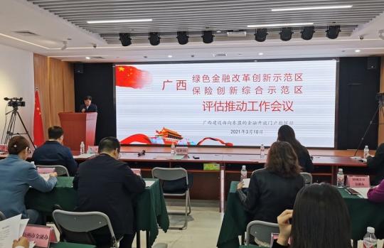 广西绿色金融改革创新示范区和保险创新综合示范区推进评估会在南宁举行