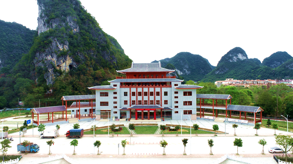 高清:天等县壮族霜降节博物馆预计今年4月开馆