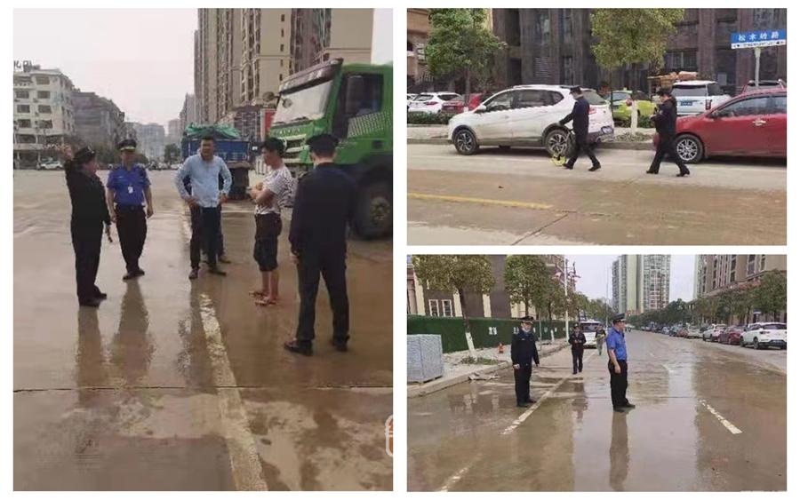 贺州市桂东广场一工地致道路尘埃