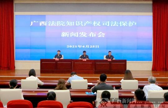 广西法院召开知识产权司法保护新闻发布会