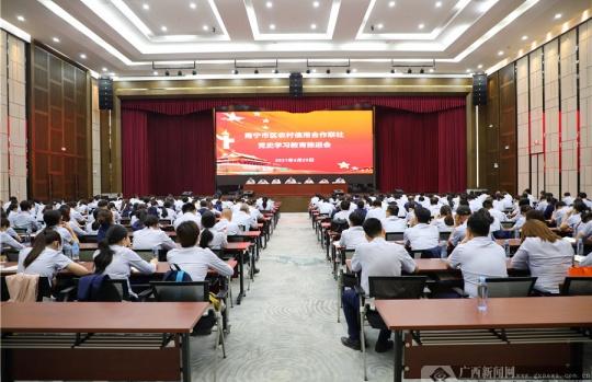 南宁市区联社党委召开党史学习教育推进会