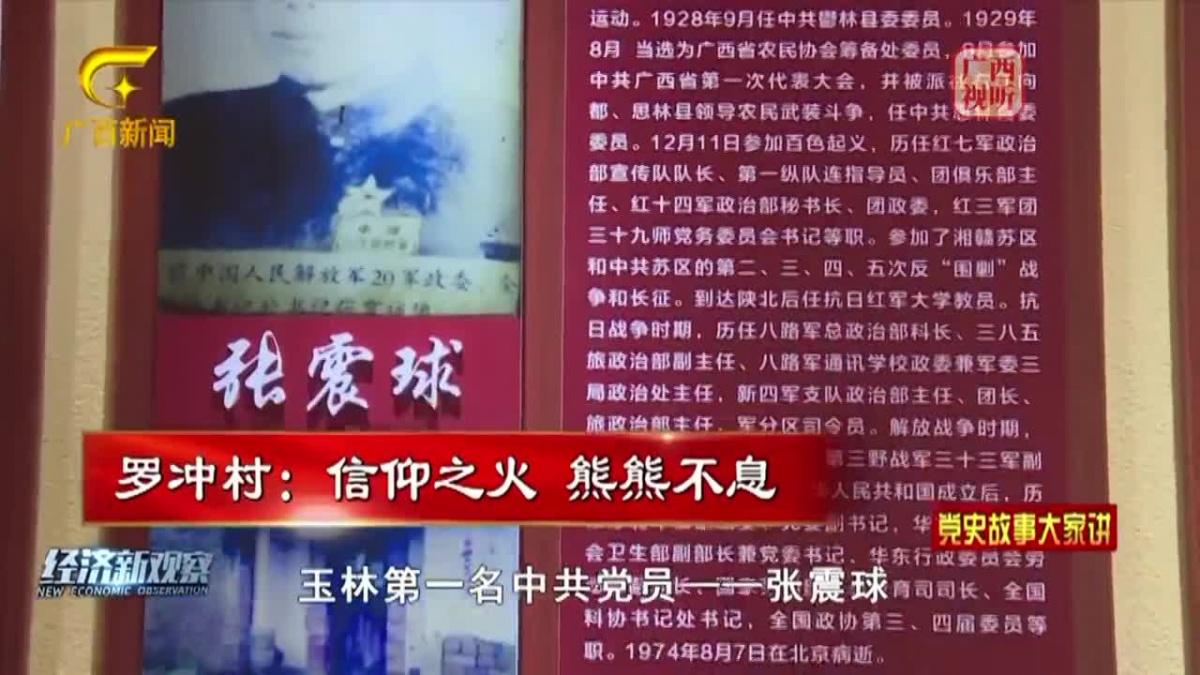 《党史故事大家讲》第二十三集 罗冲村:信仰之火 熊熊不息