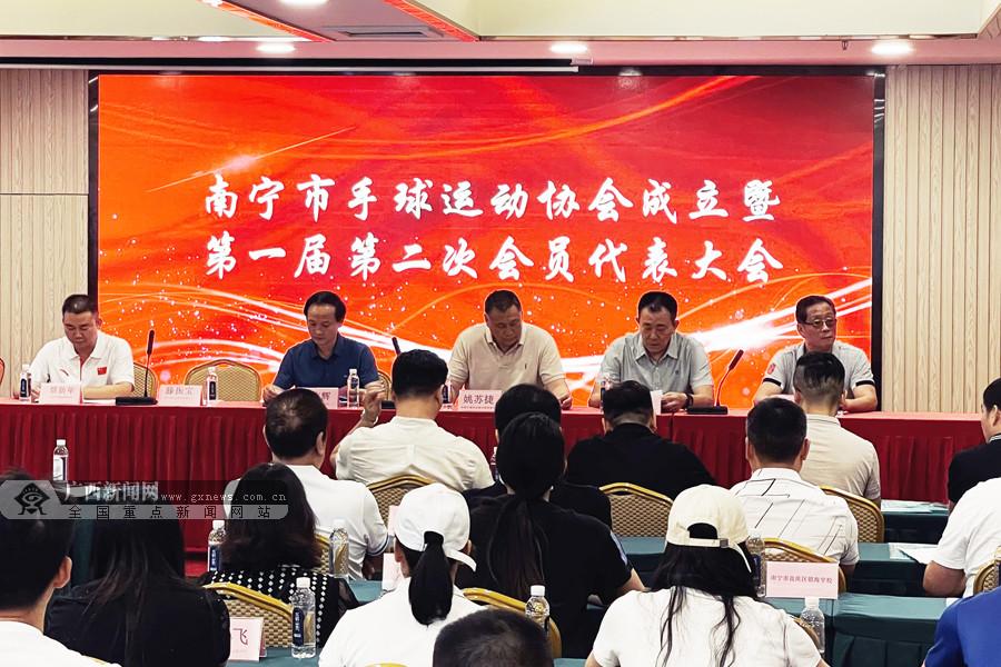 广西首个市级手球协会在南宁市成立 覃新年任会长