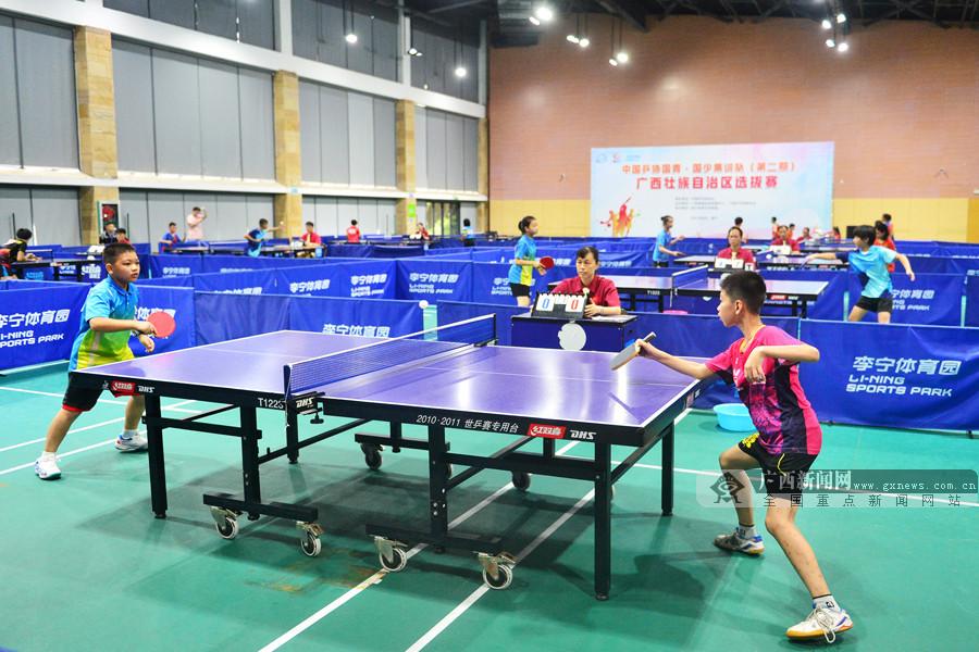 中国乒协国青、国少集训队(第二期)广西选拔赛打响