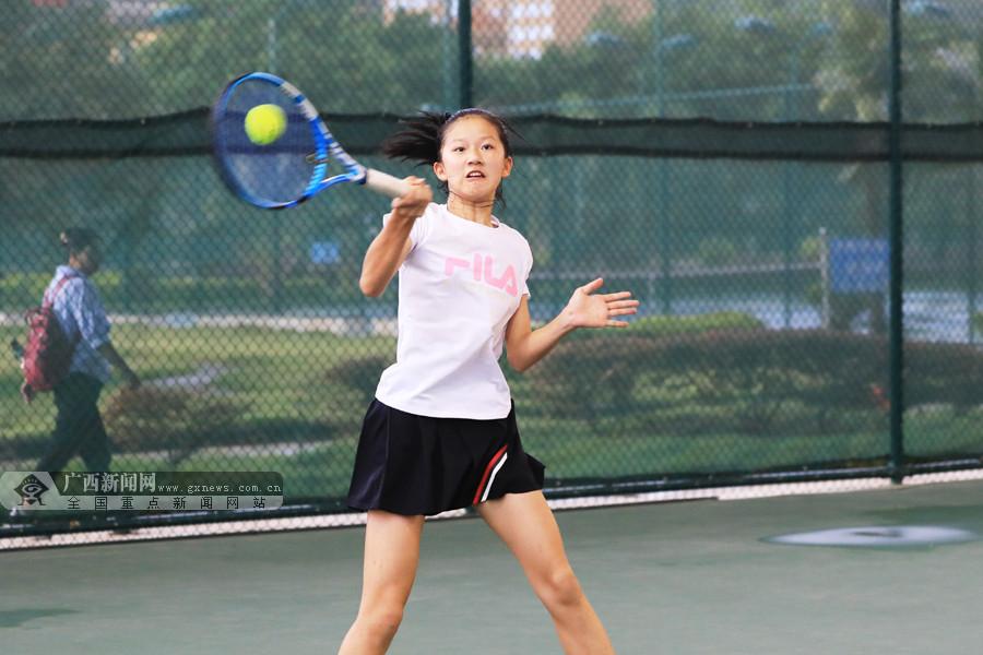 2021年广西业余网球公开赛(第一站)在平果市战罢