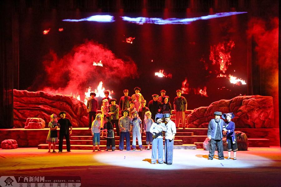 红色民族音乐剧《拔哥》在东兰县拔群干部学院首演