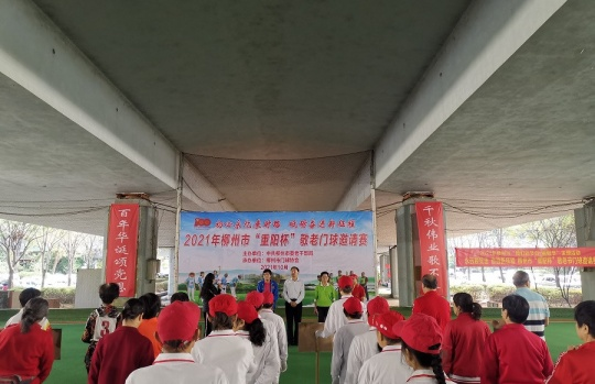 柳州:重阳门球赛 夕阳展风采